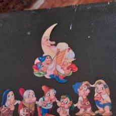Coleccionismo Cromos troquelados antiguos: 7 ANTIGUOS CROMOS TROQUELADOS DE LOS 7 ENANITOS. Lote 288189978