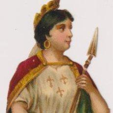 Coleccionismo Cromos troquelados antiguos: CROMO TROQUELADO (12 CM.) FRANCÉS. ESPAGNE. SIGLO XIX. Lote 295658258