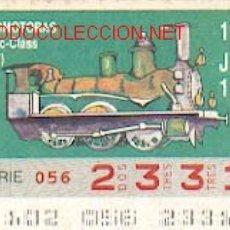 Cupones ONCE: CUPONES DE LA ONCE: CUPON 12 DE ABRIL DE 1990, LOCOMOTORA. Lote 88281