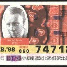 Cupones ONCE: CUPONES ONCE - ¡¡¡TIRA DE 5 CUPONES ONCE!!! 19-02-1998. Lote 4134667