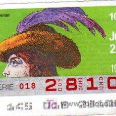Cupones ONCE: CUPON 25 DE MAYO DEL 1989 VENDIDO SOLAMENTE EN CATALUÑA. Lote 27550824