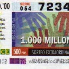 Cupones ONCE: CUPÓN ONCE - 15 AGOSTO 2000 - SORTEO EXTRAORDINARIO. Lote 5636529