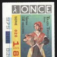 Cupones ONCE: CUPONES ONCE - ¡¡¡ 25 DE JULIO DE 1997 !!!. Lote 5688992