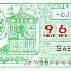 Cupones ONCE: CUPON ONCE - 6 JUNIO 1984 - VENTA DEL CUPON. Lote 6971642