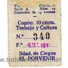 Cupones ONCE: CUPON EL PORVENIR 1935 . Lote 24629118