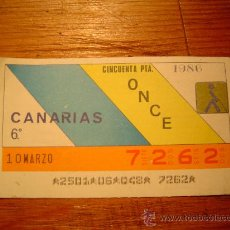 Cupones ONCE: CUPON ONCE 1986 CANARIAS. Lote 10587435