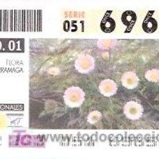 Cupones ONCE: ONCE - PARQUES NACIONALES - SIERRA NEVADA - FLORA ZARRAMAGA - GRANADA - 21 AGO 01 - 69657. Lote 11631218