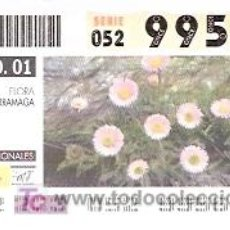 Cupones ONCE: ONCE - PARQUES NACIONALES - SIERRA NEVADA - FLORA ZARRAMAGA - GRANADA - 21 AGO 01 - 99567. Lote 11631219
