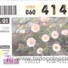 Cupones ONCE: ONCE - PARQUES NACIONALES - SIERRA NEVADA - FLORA ZARRAMAGA - GRANADA - 21 AGO 01 - 41421. Lote 11631223