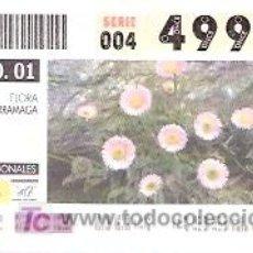 Cupones ONCE: ONCE - PARQUES NACIONALES - SIERRA NEVADA - FLORA ZARRAMAGA - GRANADA - 21 AGO 01 - 49910. Lote 11631225