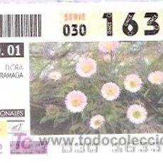 Cupones ONCE: ONCE - PARQUES NACIONALES - SIERRA NEVADA - FLORA ZARRAMAGA - GRANADA - 21 AGO 01 - 16332. Lote 11631227