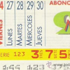 Cupones ONCE: CUPON ONCE 1991.ABONO SEMANAL DEL 24 AL 30 MAYO. Lote 108900375