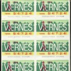 Cupones ONCE: CUPONES ONCE - HOJA 10 CUPONES DE LOS VIERNES ( 07-11-86 ). Lote 23711336
