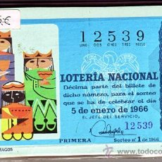 Cupones ONCE: LOTERA NACIONAL 1966 COMPLETO. Lote 20639848