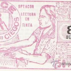 Cupones ONCE: CUPON ONCE 2 ABRIL 1984 ROJO. Lote 22096371