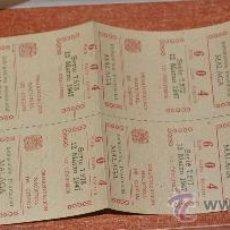 Cupones ONCE: ONCE DELEGACION MALAGA O.N.C.E. AÑO 1947 BILLETE CON 10 NUMEROS . Lote 22623440