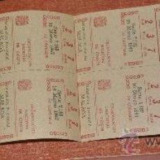 Cupones ONCE: ONCE DELEGACION MALAGA O.N.C.E. AÑO 1947 BILLETE CON 10 NUMEROS . Lote 22623469