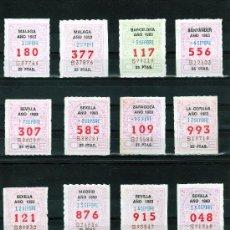 Cupones ONCE: 24 CUPONES ONCE DE SEPTIEMBRE DE 1983, UNO DE CADA DIA (CREO QUE FALTA 1 DIA) C(35). Lote 26549433