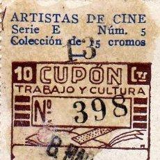 Cupones ONCE: CUPON SOCIEDAD DE CIEGOS LA HISPALENSE, 8 DE MARZO 1935. Lote 24095012