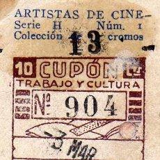 Cupones ONCE: CUPON SOCIEDAD DE CIEGOS LA HISPALENSE, 3 DE MARZO 1935. Lote 24095066