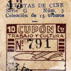 Cupones ONCE: CUPON DE LA SOCIEDAD DE CIEGOS LA HISPALENSE,23 DE FEBRERO 1935. Lote 24095147