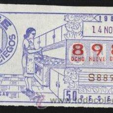 Cupones ONCE: CUPÓN ONCE 1984 ( 14 DE NOVIEMBRE ). Lote 24751900