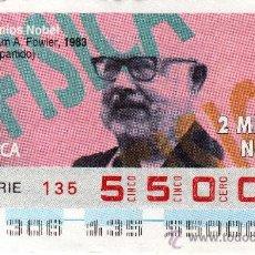 Cupones ONCE: CUPON DE LA ONCE Nº 55000 DEL MIERCOLES 2 DE NOVIEMBRE DE 1994 PREMIOS NOBEL NUEVO. Lote 25612351
