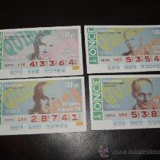 Cupones ONCE: CUPON DE LA ONCE LOTE DE 4 CUPONES DIFERENTES PREMIOS NOBEL QUIMICA AÑO 1994. Lote 28239742