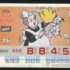 Cupones ONCE - S-3634- CUPON ONCE. DISNEY. 101 DALMATAS. 1996 - 28708356