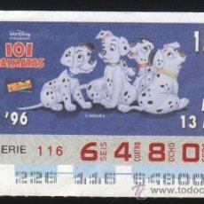 Cupones ONCE - S-3646- CUPON ONCE. DISNEY. 101 DALMATAS. 1996 - 28708494