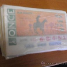 Cupones ONCE: CUPON ONCE AÑO 1990 COMPLETO. Lote 158655918