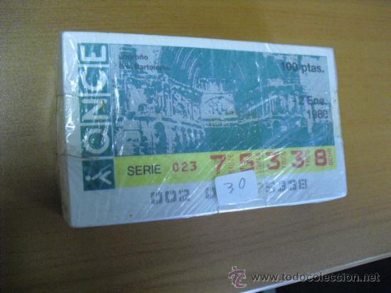 CUPON ONCE AÑO 1989 COMPLETO (Coleccionismo - Lotería - Cupones ONCE)