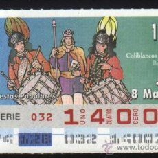 Cupones ONCE: S-4277- CUPON ONCE. COLIBLANCOS Y COLINEGROS. BAENA (CORDOBA). 1997. Lote 30224972