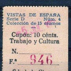 Cupones ONCE: CUPON SOCIEDAD DE CIEGOS EL PORVENIR, Nº 946 (N). Lote 32867871