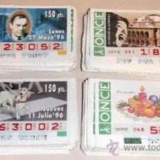 Cupones ONCE: IÑI LOTAZO DE 373 CUPONES DE LA ONCE. 1996. LOTTERY TICKETS. LOTE DELTA.. Lote 34058183