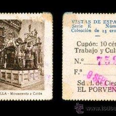 Cupones ONCE: CRE1 CUPON SDAD. DE CIEGOS EL PORVENIR AÑO 1935 SEVILLA. Lote 36517790