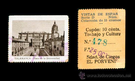 CRE1 CUPON SDAD. DE CIEGOS EL PORVENIR AÑO 1935 SALAMANCA (Coleccionismo - Lotería - Cupones ONCE)