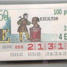 Cupones ONCE: CCC1 COLECCIÓN COMPLETA EN CUPONES DE LA ONCE DEL AÑO 1988. Lote 36959251