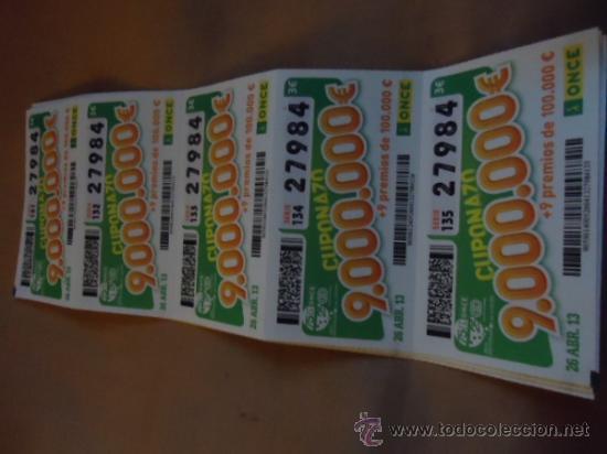 TIRA DE 5 CUPONES DE LA ONCE , - ADMITO OFERTAS POR VARIOS LOTES - CUPONAZO (Coleccionismo - Lotería - Cupones ONCE)