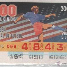 Cupones ONCE: CUPONES ONCE - MUNDIAL DE FUTBOL USA 1994 - 3 CUPONES. Lote 39796668