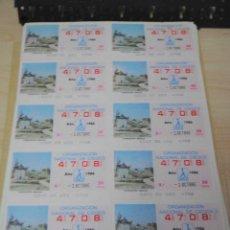 Cupones ONCE: LOTE DE 125 PLIEGOS DE 12 CUPONES ONCE DEL AÑO 1986. LIQUIDACION. Lote 54862900