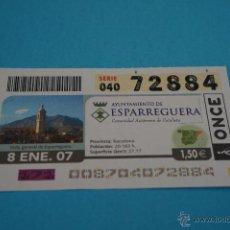 Cupones ONCE: CUPÓN DE LA ONCE:CIUDAD,ESPARREGUERA,(BARCELONA). Lote 43420779