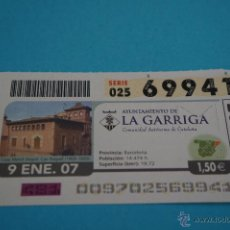 Cupones ONCE: CUPÓN DE LA ONCE:CIUDAD,LA GARRIGA,(BARCELONA). Lote 43420936