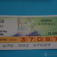Billets ONCE: CUPÓN DE LA ONCE:50 AÑOS,A. GAUDÍ. Lote 196940665