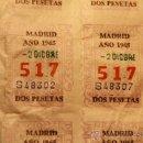 Cupones ONCE: BILLETES ONCE - 9X1 PESETA, Nº 517, 2 DIC 1965. Lote 44332323