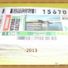 Cupones ONCE: AÑO 2013 COMPLETO CUPONES DE LA ONCE TODOS LOS SORTEOS. Lote 54709336