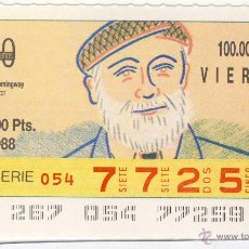 Cupones ONCE: CUPÓN ONCE.- 23 DE SEPTIEMBRE DE 1988.-. Lote 46016601