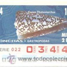 Cupones ONCE: 8-940202. CUPÓN ONCE DE 02-02-94. CONCHAS GASTROPODAS. COMUS RHALASSIARCHUS. Lote 46906343