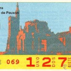 Cupones ONCE: CUPON DE LA ONCE SORTEO 8 DE DICIEMBRE DE 1988. SOLO CELEBRADO EN PAIS VASCO Y NAVARRA. Lote 70824074