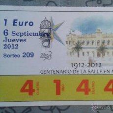 Cupones ONCE: CUPON RIFA DE CARIDAD DE MEL ILLA. Lote 52417831